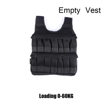 5-60KG Loading Weight Vest for Boxing Weight Training Workout Fitness Gym Equipment Adjustable Waistcoat Jacket Sand Clothing 15