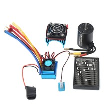 3650 4300Kv Brushless Motor & 45A Esc & Radiator With Program Car Combo For 1:10 Rc Car Rc Boat Part(China)