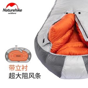 Image 5 - Naturehike 2019 20D Arktischen Alpine Gans Unten Mummy Schlafsack Super Warm Halten 850 FP Komfort Einschränkung Temperatur 23℃  43℃