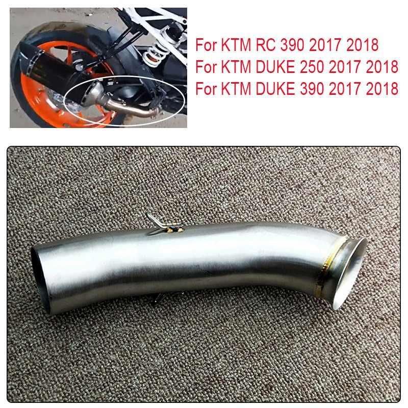 Moto di Scarico Tubo Centrale Sul Link Tubo per Duke 390 250 125 DUKE390 RC390 2017 2018