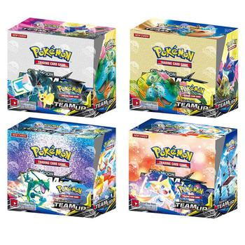 360pcs Pokemon card TCG: Sun & Moon TEAM UP Edition 36 Packs Per Box Collectible Trading Cards Game Kids Toy Gift 2