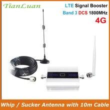Tianluan kit 4g lte repetidor de impulsionador de sinal móvel 1800 mhz celular dcs 1800 celular display lcd + otário antena