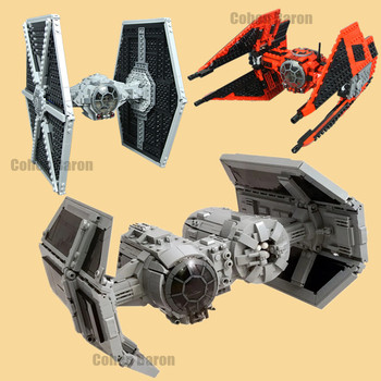 цена на New Spaceship First Order Imperial TIE Fighter Bomber Fit Star Wars Figures Building Block Bricks Toy Kid Diy Gift Birthday