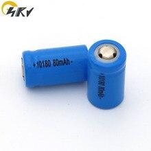 3.7V 10180 충전식 충전기 리튬 이온 배터리 셀 80mAh 100mAh 150mAh 미니 UC02 LED 손전등 토치 및 스피커