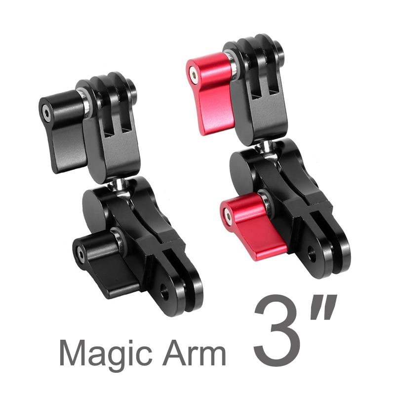 3 Inch Magic Arm Extension Adapter Swivel Joint Helmet Tripod Mount CNC for GoPro Hero 9 8 7 6 5 Yi 4K Sjcam Eken Action Camera