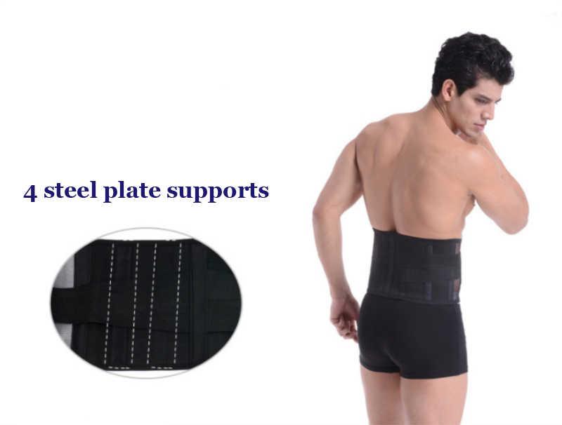 Ortopedik erkekler kadınlar bel desteği geri sarıcı kemer turmalin kendinden ısıtma manyetik 4 adet çelik kemik bel geniş kemer B17