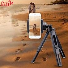 Mini stojak trójnóg z uchwyt na telefon 6 Cal na Smartphone statyw fotograficzny stojak trójnóg uchwyt rękojeści na telefon na żywo gorąca sprzedaży