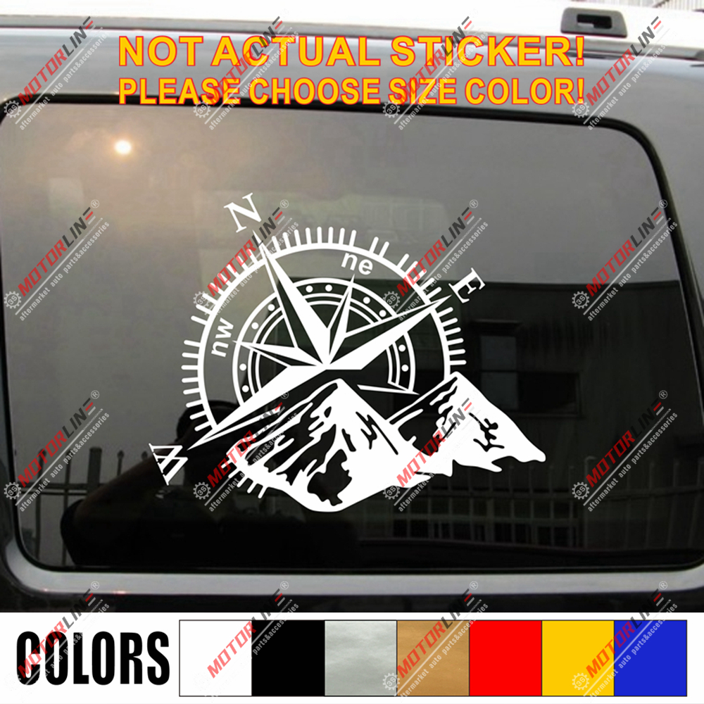 <font><b>4X4</b></font> <font><b>Off</b></font> <font><b>Road</b></font> Decal <font><b>Sticker</b></font> Mountain compass Car Vinyl fit for Jeep Ford Chevy image