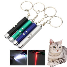 Pet Supplies Laser funny cat stick New Cool 2 In1 Red Pointer Pen With LED Light Childrens Play DOG Toy