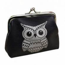 Coin Purse Wallet Elephant Womens Cute Card-Holder Ladies Pattern Owl with Printing