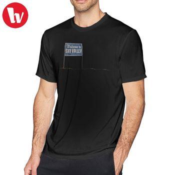 Kyuss T Shirt Welcome To Sky Valley Sign T-Shirt 6xl Basic Tee Shirt Mens Short-Sleeve Printed Funny Tshirt funny new holland t shirt mens slim tee shirt printed t shirtcotton t shirt 010854