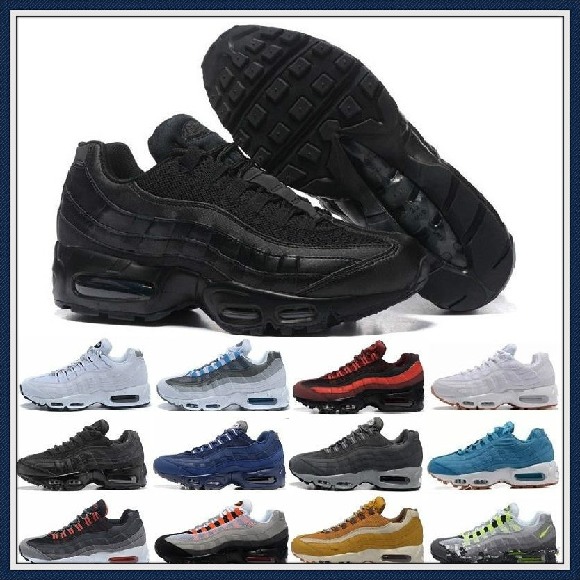 2020 NEW Air Og Max 95 Cushion Navy Sport High-quality Chaussure 95s Walking Boots Men Casual Shoes Sneakers Women