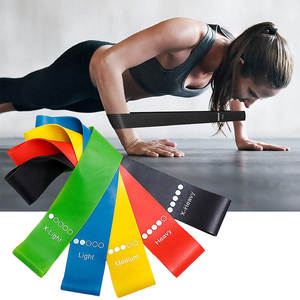 Rubber Bands Fitness Gum X-Light Training-Workout Pilates Yoga-Resistance Sport 5-Color