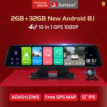 Junsun Android 8.1 2GB+32GB ADAS 10 in 1 DashCam Car DVR Mirror Camera 4G WIFI GPS Bluetooth
