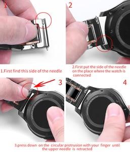Image 5 - 20mm 22mm Bracelet de montre en céramique pour Samsung Galaxy montre 3 actif 2 Bracelet Gear S3 Bracelet frontière pour Amazfit GTS 2 GTR 2 Pop
