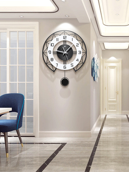 Large Decorative Pendulum Wall Clock Modern Design Wall Clocks Thick Watches For Kitchen Living Room Watch Home Decor II50BGZ