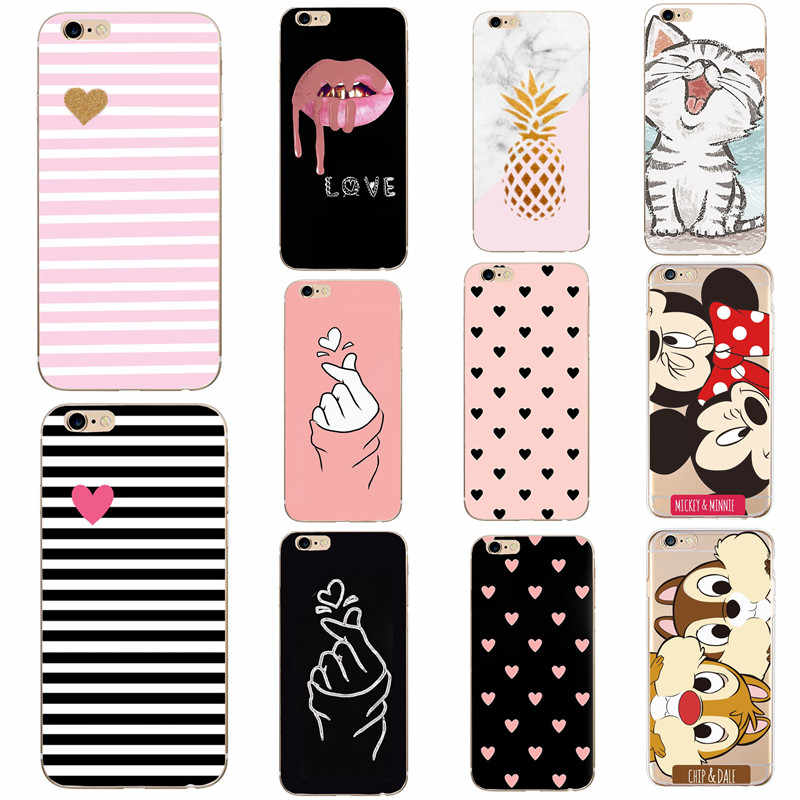 TPU Voor Fundas iPhone 7 Case Soft Cover Voor iPhone 8 6 6s 5 5s SE 7 Plus X XS Max XR Back Case Capa Siliconen Dier Cartoon