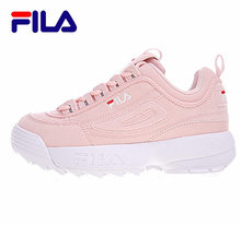 2019 Filas Disruptor II 2 Men and Women Sneaker Running Shoes White-brown and white summer Increased Outdoor Sneaker r4(China)