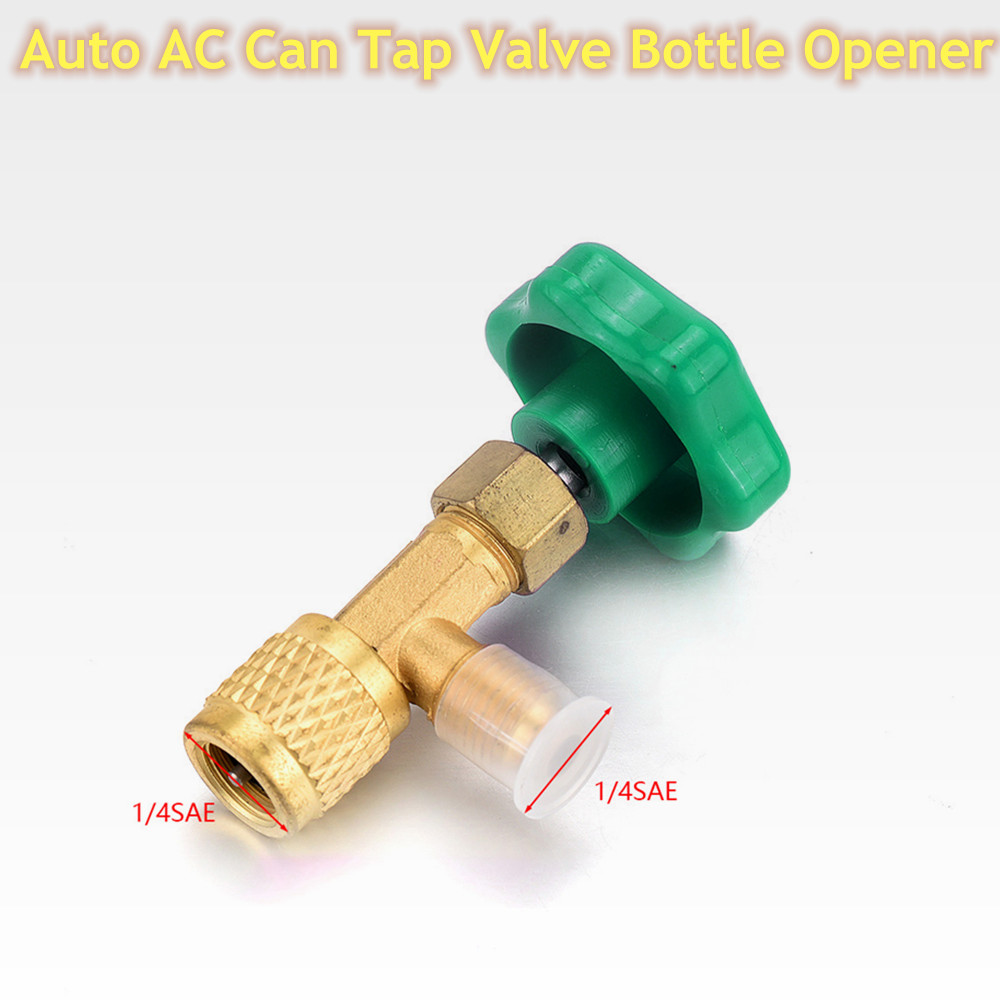 High Quality Low Pressure Auto AC Can Tap Valve Bottle Opener 1/4 SAE  Thread Adapter for R12 R22 Gas A/C Refrigerant Car Styling
