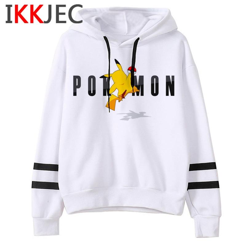Pokemon Go Funny Cartoon Warm Hoodies Men/women Cute Pikachu Japanese Anime Sweatshirts Fashion 90s Steetwear Hoody Male/female 9