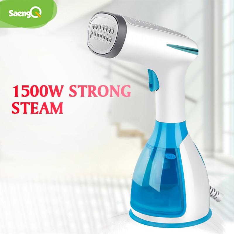 Garment-Steamer Steam-Iron Vertical Fabric-1500w Saengq Travel Handheld Mini Portable
