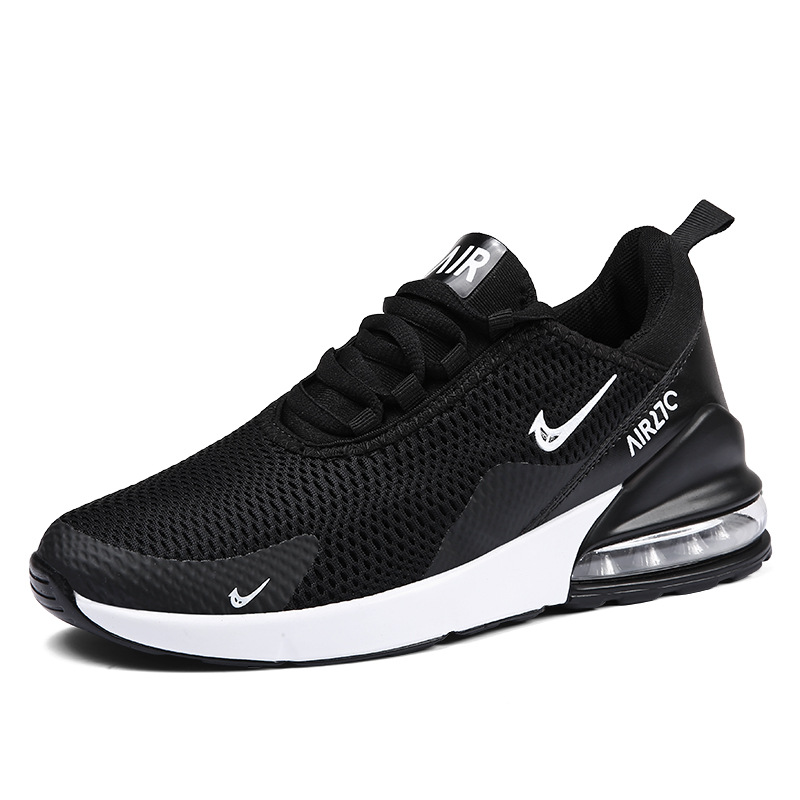 Jogging Shoes Air-Cushion Men Sneakers Breathable Plus-Size Men's Lace-Up Mesh
