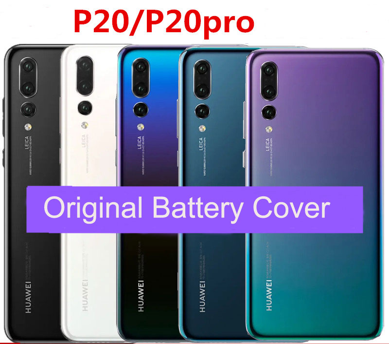 Original For Huawei P20 Back Battery Cover Housing For Huawei P20 Pro Battery Back Rear Glass Replacement Case Repair Parts