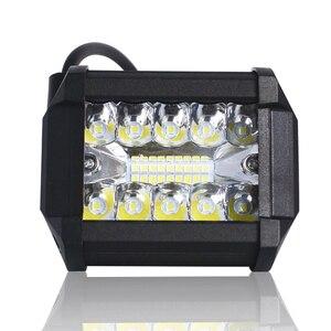 """Image 2 - Barre lumineuse de travail lumière Led Bar, phare antibrouillard, pour camion, pour bateau, 4x4 Combo, 60W, 4 """", phare 12V"""