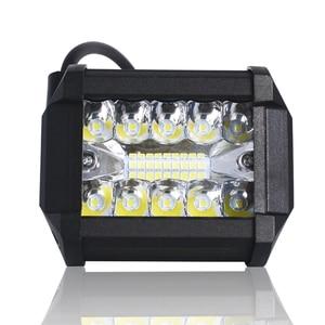 Image 2 - Listwa świetlna Led 4 Cal 60W listwa świetlna LED robocza Combo Offroad 4x4 światło przeciwmgielne światło drogowe lampa do ciężarówki 12V reflektor do łodzi