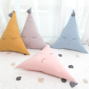 Nordic Baby Pillow Cotton Smile Triangle