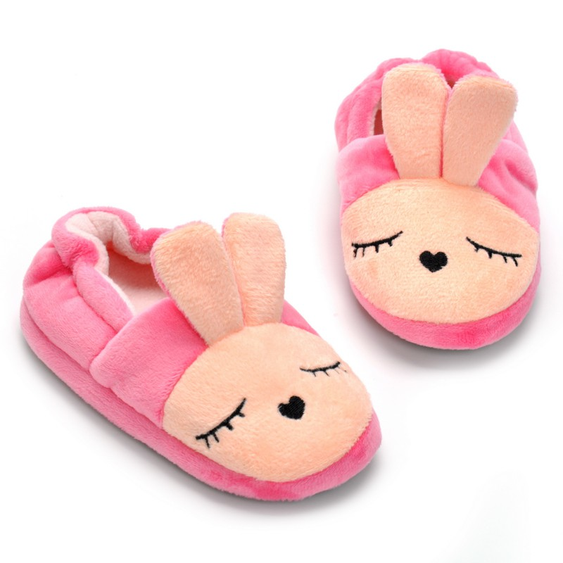 Baby Slippers Girl Boys Winter Warm Slippers Expression Cotton Children Home Shoes Kids Guest Toddler Slippers Plush