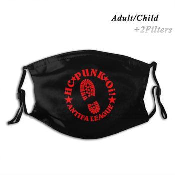 Antifa League Design Anti Dust Filter Washable Face Mask Kids Antifa Punk Metal Metalhead Headbanger Punx Hardcore Underground image
