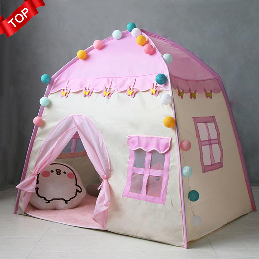 Hot Kids Tent Oxford Cloth Play House 3-4 Children Indoor Outdoor Toy House Girls Birthday Gift Pink Baby Tent carpas infantiles(China)