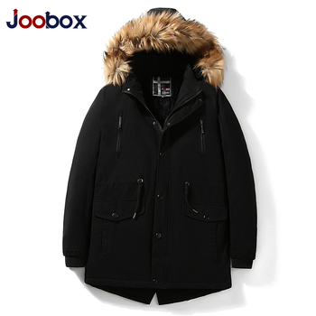 Thick Warm Parkas Coat Winter Jacket Men Casual Long Outwear Hooded Fur Collar Windbreaker Lining Cotton-padded Parka Jackets maternity winter jacket women new 2018 coats female parka black thick cotton padded lining clothes pregnant woman outwear