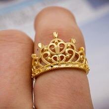 Wando модные покрытые 24 каратным золотом кольца невесты разной