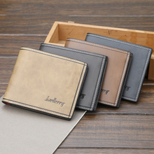 Men PU Leather Wallets Brand Luxury Short Vintage Male Purse