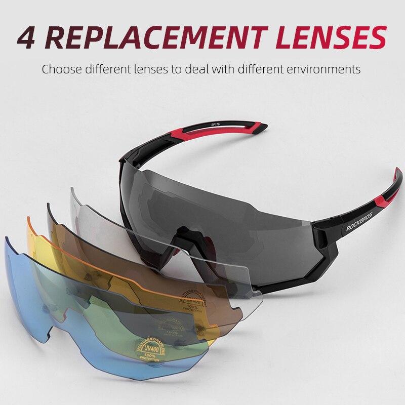 RockBros Polarized Cycling Glasses Eyewear Fishing Goggles Sunglasses UV400