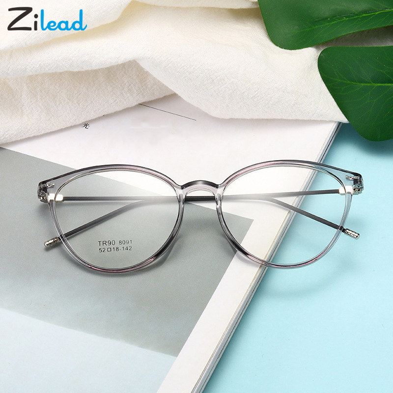 Zilead Cat Eye Fnished Myopia Glasses TR90 Nearsighted Eyeglasses Women Men Shortsight Glasses With 0 -0.5 -1.0 -1.5 To -6.0