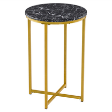 40cm Coffee Tables Simple Round Edge Marble Table Stylish Home Furniture for Living Room Bedroom HFing