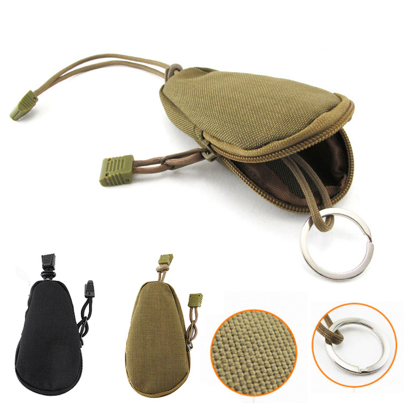 Mini Tactical Wallet Camping Equipment Nylon <font><b>Molle</b></font> Pouch Small Money Bag Camouflage <font><b>Tactico</b></font> Militar Accesorios Army Bags image