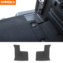 SHINEKA Car Stickers For Jeep Wrangler JL Carbon Fiber Car Rear Tail Trunk Decoration Cover Stickers For Jeep Wrangler JL 2018+ shineka car sticker for jeep wrangler jl accessories rearview mirror carbon fiber chrome decoration sticker for wrangler 2018