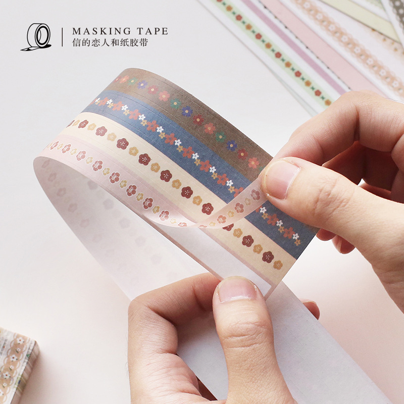 JIANWU 8mmx3m Creative Kawaii  Strip Washi Tape Cute Bullet Journal Sticker DIY Decorative Sticker Packing School Supplies