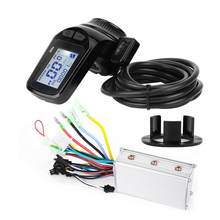 24V 350W Brushless Motor Controller LCD Display Thumb Throttle for Electric Bicycle Scooter E-bike Motor Equipment(China)