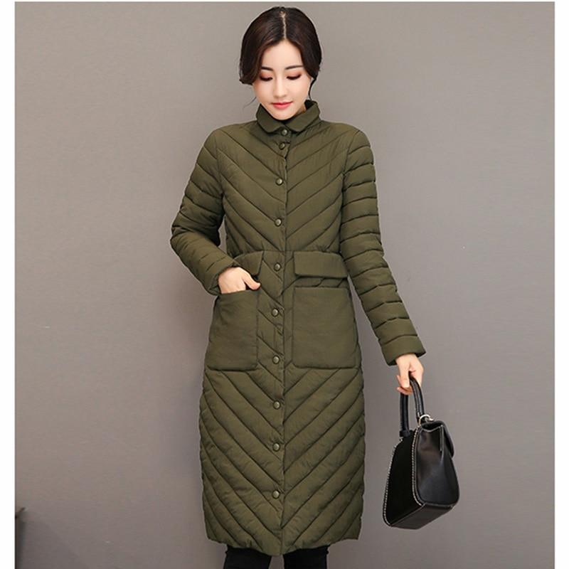 Winter Jacket Female light   Parka   Coat Long hoodie Down Cotton Jacket Plus Size 3XL Long thick   Parkas   autumn Coat Jacket Women
