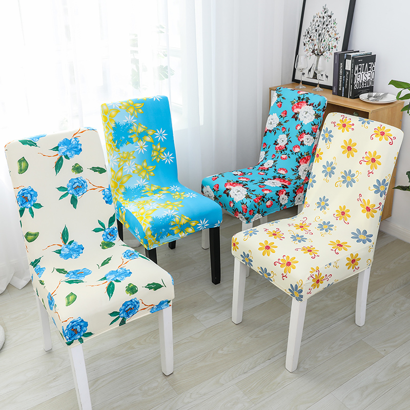 Big Elastic Chair Cover Cheap Stretch Chair Cover Seat Slipcovers Printed Stretch Elastic Chair Cover For Dining Room Hotel Home 1