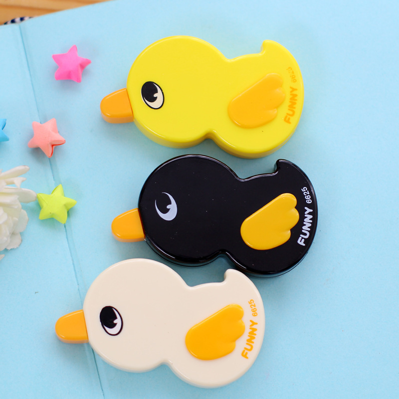 1 Piece Kawaii Funny Yellow Duck Animal Students Correction Tape Children Birthday Gift School Stationery