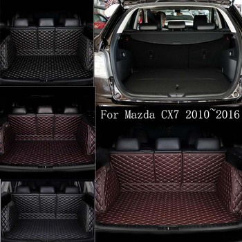 custom car trunk mat Cargo Liner For For Mazda CX7 2010~2016 car accessories custom Waterproof leather floor mat image