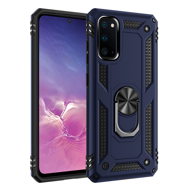 Magnet Metal Finger <font><b>Ring</b></font> Shockproof <font><b>Case</b></font> For Samsung galaxy S20 Ultra S10 S9 S8 Plus <font><b>Note</b></font> 10 Plus <font><b>Note</b></font> <font><b>9</b></font> 8 Armor Silicone Cover image