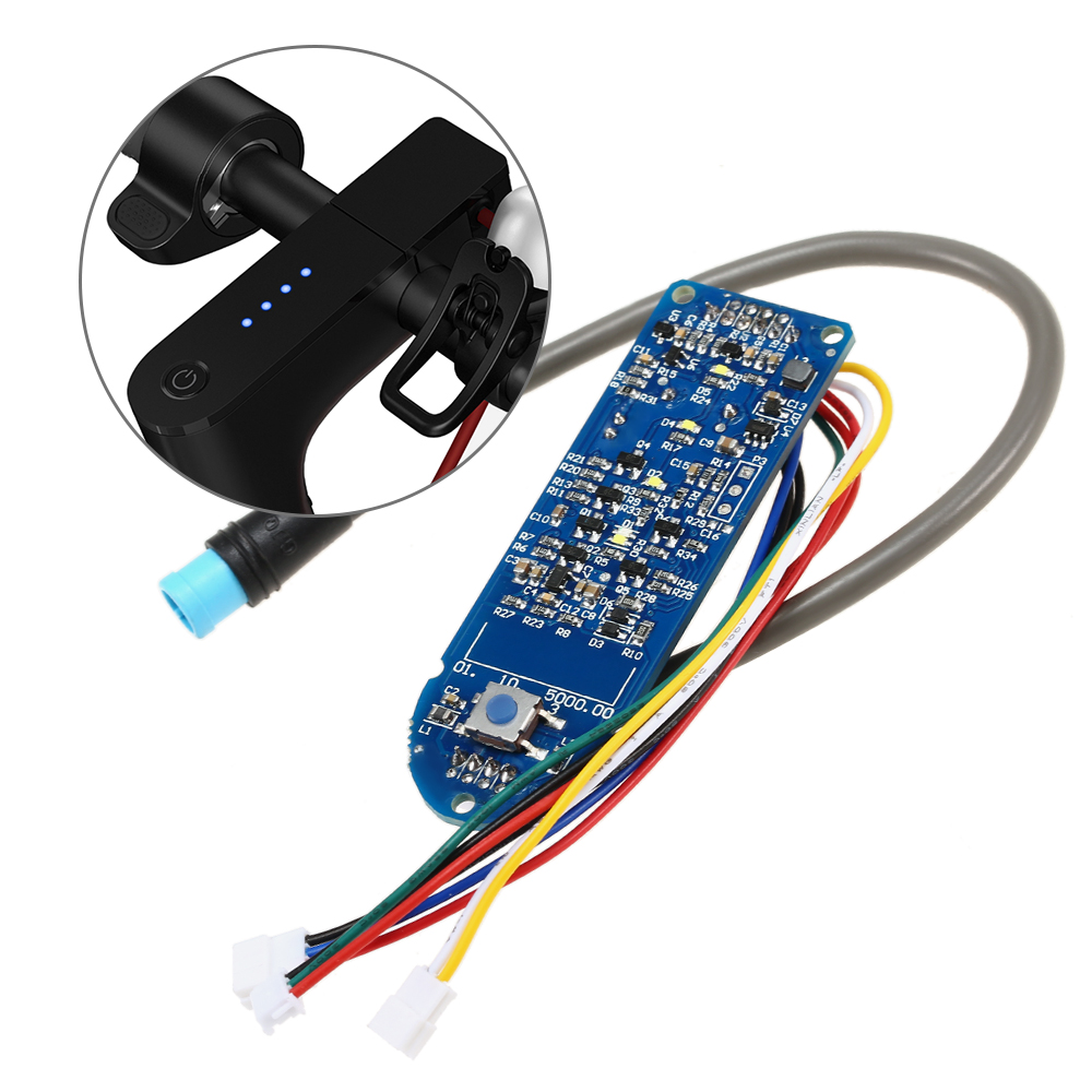 Scooter Dashboard Battery Indicator Switch Panel Circuit Board For M365 Electric Scooter Switch Panel Plastic