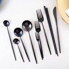 Домашняя посуда столовые приборы из нержавеющей стали полная